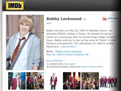 Bobby's IMDB Record